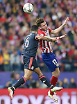 Atletico de Madrid's Saul Niguez (r) and FC Bayern Munchen's Thiago Alcantara during Champions League 2015/2016 Semi-Finals 1st leg match. April 27,2016. (ALTERPHOTOS/Acero)