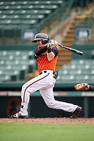 GCL Orioles Jordan Cannon (35) at bat during a Gulf Coast League game against the GCL Braves on August 5, 2019 at Ed Smith Stadium in Sarasota, Florida.  GCL Orioles defeated the GCL Braves 4-3 in the first game of a doubleheader.  (Mike Janes/Four Seam Images)