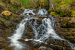 Glen Affric, Western Highlands, Scotland: A cascading falls along the Allt na Bodachan near Plodda Falls