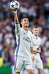 Cristiano Ronaldo of Real Madrid celebrate winning after their 2016-17 UEFA Champions League Quarter-finals second leg match between Real Madrid and FC Bayern Munich at the Estadio Santiago Bernabeu on 18 April 2017 in Madrid, Spain. Photo by Diego Gonzalez Souto / Power Sport Images