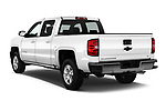 Car pictures of rear three quarter view of 2018 Chevrolet Silverado-1500 LT-Crew 4 Door Pick-up Angular Rear