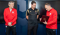 Kansas City, KS - Tuesday, January 7, 2020 : LAFC assistant coach Ante Razov is presented his Pro Coaching License during the U.S. Soccer Pro License Meeting at the National Development Center in Kansas City, Kansas.