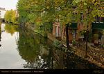 Canal Scene: Augustijnenrei at Vlamingstraat, Bruges, Brugge, Belgium