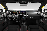 Stock photo of straight dashboard view of 2019 Mercedes Benz A-Class - 5 Door Hatchback Dashboard