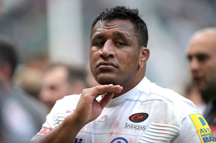 Mako Vunipola of Saracens during the Aviva Premiership Rugby Final between Bath Rugby and Saracens at Twickenham Stadium on Saturday 30th May 2015 (Photo by Rob Munro)