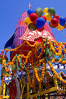 Hare Krishna Chariot Parade and Festival of India, Vancouver, BC, British Columbia, Canada - Brightly Decorated Float