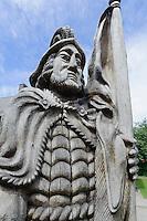 Statue St.Florian in Trakai, Litauen, Europa