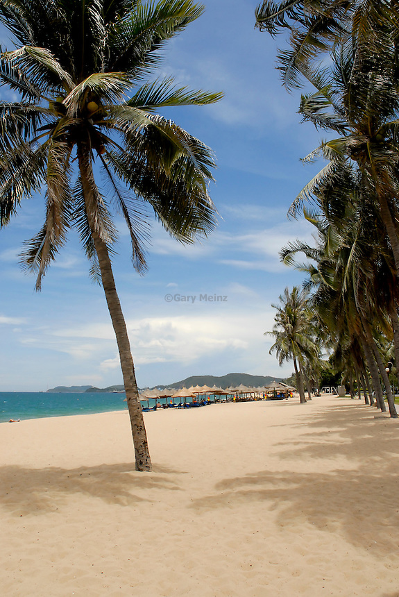 Sandy beach Nha Trang Vietnam