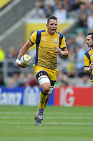 Phil Dowson of Worcester Warriors breaks in midfield during the Aviva Premiership Rugby match between Saracens and Worcester Warriors at Twickenham Stadium on Saturday 03 September 2016 (Photo by Rob Munro/Stewart Communications)