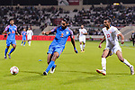 Sandesh Jhingan of India (L) in action during the AFC Asian Cup UAE 2019 Group A match between India (IND) and Bahrain (BHR) at Sharjah Stadium on 14 January 2019 in Sharjah, United Arab Emirates. Photo by Marcio Rodrigo Machado / Power Sport Images