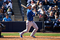 Toronto Blue Jays Caleb Joseph (7) bats during a Spring Training game against the New York Yankees on February 22, 2020 at the George M. Steinbrenner Field in Tampa, Florida.  (Mike Janes/Four Seam Images)