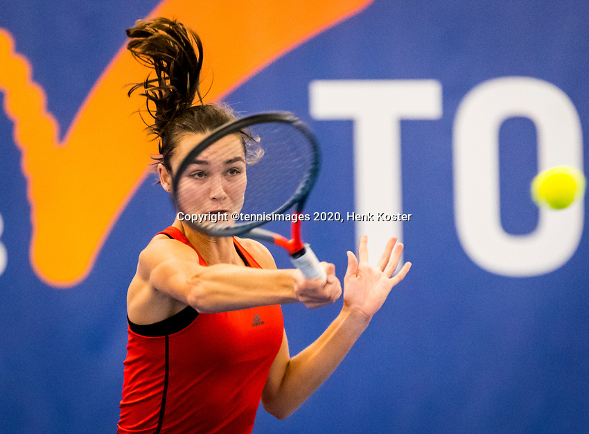 Amstelveen, Netherlands, 16  December, 2020, National Tennis Center, NTC, NK Indoor, National  Indoor Tennis Championships, : Jasmijn Gimbrère (NED) <br /> Photo: Henk Koster/tennisimages.comfac