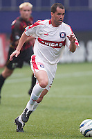 Evan Whitfield of the Fire. The Chicago Fire defeated the NY/NJ MetroStars 3-2 on 6/14/03 at Giant's Stadium, NJ..