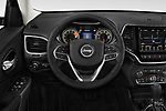 Car pictures of steering wheel view of a 2018 Jeep Cherokee Limited 5 Door SUV