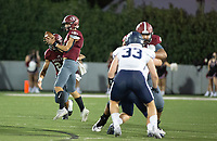 Landon Phipps (5) of Springdale takes the hike against Springdale Har-ber at Jarrell Williams Bulldog Stadium, Springdale, Arkansas on Friday, October 9, 2020 / Special to NWA Democrat-Gazette/ David Beach