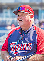 8 June 2013: Minnesota Twins Manager Ron Gardenhire watches his team take batting practice prior to a game against the Washington Nationals at Nationals Park in Washington, DC. The Twins edged out the Nationals 4-3 in 11 innings. Mandatory Credit: Ed Wolfstein Photo *** RAW (NEF) Image File Available ***
