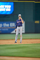 Eli White (11) of the Nashville Sounds on defense against the Reno Aces at Greater Nevada Field on June 5, 2019 in Reno, Nevada. The Aces defeated the Sounds 3-2. (Stephen Smith/Four Seam Images)