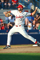 July 20th 2008:  Richard Bleier of the Spokane Indians, Short Season Class-A affiliate of the Texas Rangers, during a game at Home of the Avista Stadium in Spokane, WA.  Photo by:  Matthew Sauk/Four Seam Images