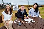 Enjoying outdoor dining a McMunns in Ballybunion on Sunday, l to r: Mary Ryall (Ballyduff), Adrian Sheehy (Ballyduff) and Julia Cotter (Killarney).