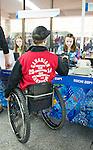 Josh Dueck, Sochi 2014.<br /> Team Canada arrives at the airport in Sochi for the Sochi 2014 Paralympic Winter // Équipe Canada arrive à l'aéroport de Sotchi pour Sochi 2014 Jeux paralympiques d'hiver. 02/03/2014.