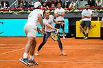 Rafa Nadal and Martina Hingis during the Charity Day of the Mutua Madrid Open at Caja Magica in Madrid. April 29, 2016. (ALTERPHOTOS/Borja B.Hojas)