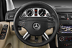 Steering wheel view of a 2009 Mercedes B Class Sport Mini MPV
