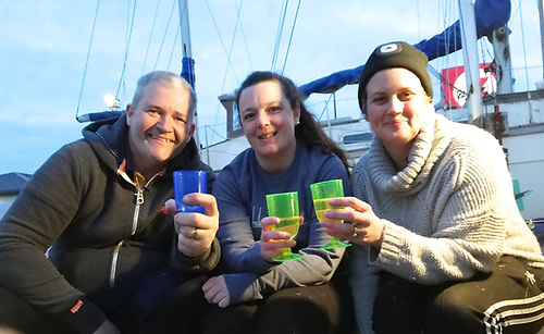 It's getting late, it's getting dark, and it's getting cold, but the core team of Trev, Orla and Krissi have just completed a massive evening's work