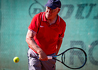 Hilversum, The Netherlands,  August 18, 2020,  Tulip Tennis Center, NKS, National Senior Championships, Men's single 70+ , Gerard Gerritsen (NED) <br /> Photo: www.tennisimages.com/Henk Koster