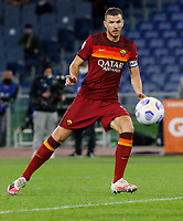 Roma s Edin Dzeko kicks to score a goal during the Serie A soccer match between Roma and Benevento at Rome's Olympic Stadium, October 18, 2020.<br /> UPDATE IMAGES PRESS/Riccardo De Luca