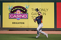 Houston Astros outfielder Steven Souza Jr. (20) catches a fly ball during a Major League Spring Training game against the St. Louis Cardinals on March 20, 2021 at Roger Dean Stadium in Jupiter, Florida.  (Mike Janes/Four Seam Images)