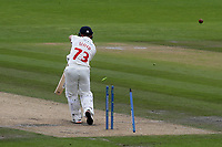 Glamorgan batsman David Lloyd is bowled by Sussex bowler, Stuart Meaker during Sussex CCC vs Glamorgan CCC, LV Insurance County Championship Group 3 Cricket at The 1st Central County Ground on 5th July 2021
