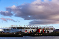 A general view of the Riverside Stadium, home of Middlesbrough<br /> <br /> Photographer Alex Dodd/CameraSport<br /> <br /> The EFL Sky Bet Championship - Middlesbrough v Norwich City - Saturday 21st November 2020 - Riverside Stadium - Middlesbrough<br /> <br /> World Copyright © 2020 CameraSport. All rights reserved. 43 Linden Ave. Countesthorpe. Leicester. England. LE8 5PG - Tel: +44 (0) 116 277 4147 - admin@camerasport.com - www.camerasport.com