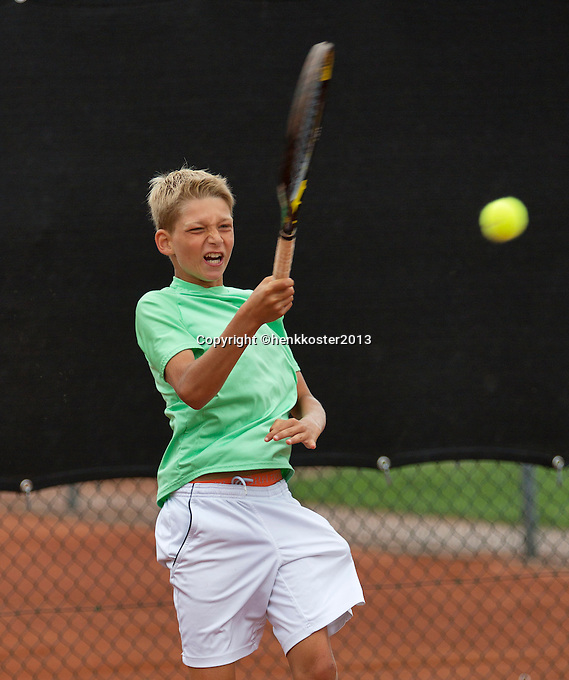 07-08-13, Netherlands, Rotterdam,  TV Victoria, Tennis, NJK 2013, National Junior Tennis Championships 2013, Tycho Korperaal<br /> <br /> <br /> Photo: Henk Koster