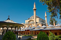 The Mevlâna museum,  the mausoleum of Jalal ad-Din Muhammad Rumi, a Sufi mystic also known as Mevlâna or Rumi. It was also the dervish lodge (tekke) of the Mevlevi order, better known as the whirling dervishes. Mevlâna died on 17 December 1273. Konya, Turkey