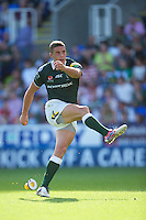 Steven Shingler of London Irish takes a conversion attempt during the Aviva Premiership match between London Irish and Gloucester Rugby at the Madejski Stadium on Saturday 8th September 2012 (Photo by Rob Munro)