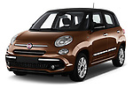 2018 Fiat 500L Lounge 5 Door Mini Van angular front stock photos of front three quarter view