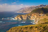 Big Sur coast, Bixby Creek Bridge in distance, California, USA, Pacific Ocean