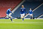 St Mirren v St Johnstone…09.05.21  Scottish Cup Semi-Final Hampden Park <br />Glenn Middleton scores his goal<br />Picture by Graeme Hart.<br />Copyright Perthshire Picture Agency<br />Tel: 01738 623350  Mobile: 07990 594431