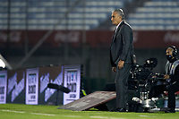 17th November 2020; Centenario Stadium, Montevideo, Uruguay; Fifa World Cup 2022 Qualifying football; Uruguay versus Brazil; Brazil manager Tite watches play closely