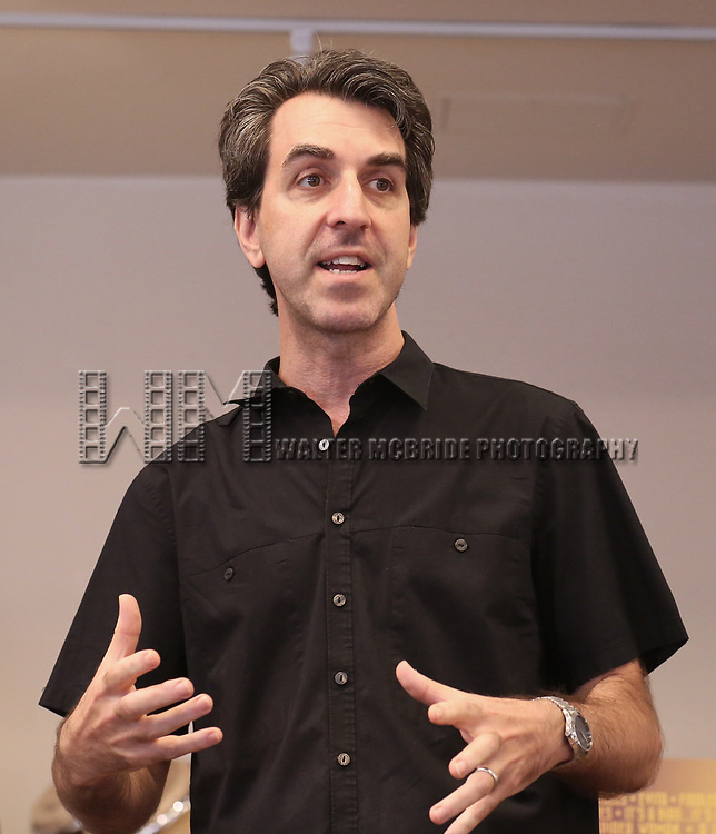 Jason Robert Brown attends the Meet & Greet for the Manhattan Theatre Club's Broadway Premiere of 'Prince of Broadway' at the MTC Studios on July 20, 2017 in New York City.