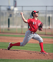Josh Rich - Cincinnati Reds 2019 spring training (Bill Mitchell)