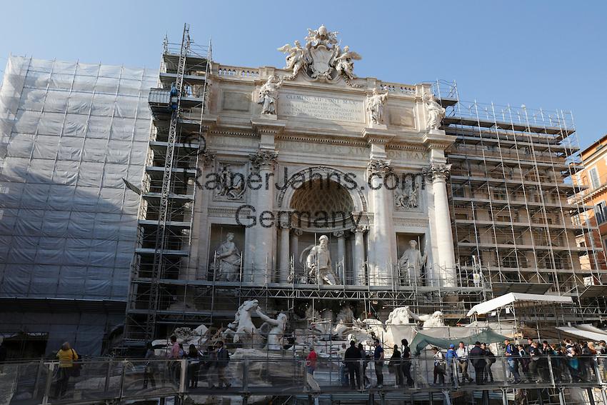 Italy, Lazio, Rome: Trevi Fountain under renovation   Italien, Latium, Rom: der Trevibrunnen wird zur Zeit restauriert