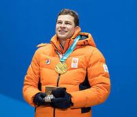 Olympics PyeongChang 120218 Ceremonie 5000mtr. Longtrack Gold Medal winner Sven Kramer