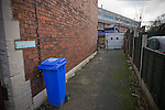 Sheffield Wednesday 2 Peterborough 1, 20/01/2010. Hillsborough, Championship. A deserted alleyway behind the the west stand pictured before Sheffield Wednesday take on Peterborough United in a Coca-Cola Championship match at Hillsborough Stadium, Sheffield. The home side won by 2 goals to 1 giving Alan Irvine his third straight win since taking over as Wednesday's manager. Photo by Colin McPherson.