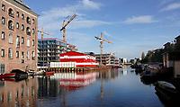 Nederland  Amsterdam -  2020.  Nieuwbouw Ooostenburg. Oostenburg wordt de komende jaren ontwikkeld tot een nieuwe stadswijk met circa 1800 woningen. Foto : ANP/ HH / Berlinda van Dam