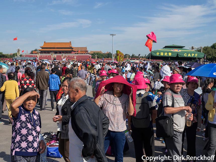 Auf em TianAnMen-Platz, Peking, China, Asien<br /> On TianAnMen square, Beijing, China, Asia