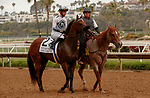 DEL MAR, CA  JULY 24: #2 Going Global, ridden by Flavien Prat, in the post parade before the San Clemente Stakes (Grade ll) on July 24, 2021 at Del Mar Thoroughbred Club in Del Mar, CA  (Photo by Casey Phillips/Eclipse lSportswire/CSM)