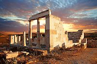 Greek Temple of Dimitras - Naxos Cylcades Islands, Greece