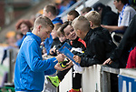 St Johnstone v Aberdeen…01.07.17  McDiarmid Park     Pre-Season Friendly <br />David Wotherspoon signs autographs for young saints fans<br />Picture by Graeme Hart.<br />Copyright Perthshire Picture Agency<br />Tel: 01738 623350  Mobile: 07990 594431