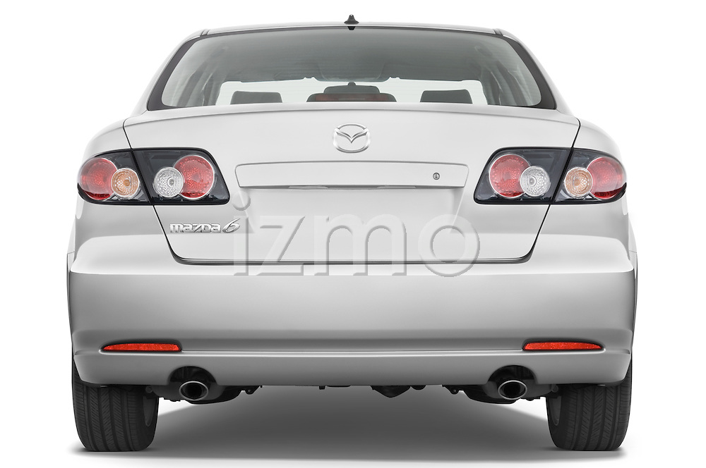 Straight rear view of a 2008 Mazda 6 Sport Sedan